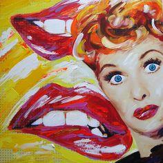 I LOVE LUCY by JeannetteG.Moretti AÑO: 2014 TÉCNICA: MIXTA SOBRE MDF MEDIDAS: 50x50cms
