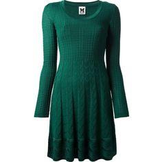 M MISSONI textured knit skater dress