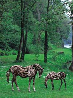 Driftwood horses by Heather Jansch, 6