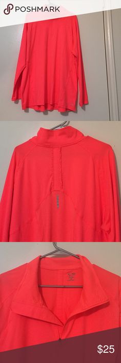 Neon activewear jacket Neon orange/pink workout jacket. Super soft material. 1/4th zip. This has never been worn! Make an offer!! Sorry, no trades. C9 Champion Jackets & Coats