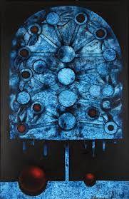 Blue shout (Attempt at portrait) von Mikulas Medek Portrait, City Photo, Decor, Paintings, Art, Bohemia, Auction, Decorating, Headshot Photography