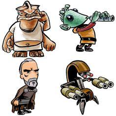 Star Wars Characters-005   by derekbourgeois