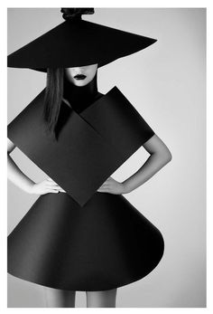 Shape & Volume - 3D geometric fashion; suprematism; strong sculptural minimalism; wearable art