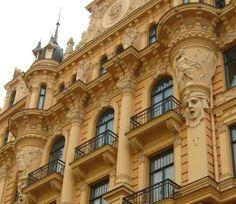 Art Nouveau - Immeuble situé à Riga Latvia en Lettonie
