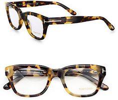 Tom Ford Eyewear Full Rim Square Wayfarer Inspired Plastic Eyeglasses