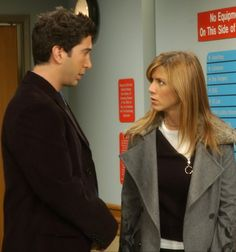 Ross: And I'm Doctor Ross Geller.  Rachel: Ross, please, this is a hospital, ok? That actually means something here.