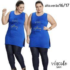 """O dia começa mais lindo vestindo uma maxi tee com a mensagem inspiradora: """"Apenas seja você mesma. Você pode ser o que quiser"""". ❤  http://www.vinculobasic.com.br/ #vinculobasic #verao2017 #fashion #plussize"""