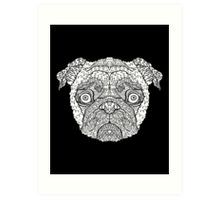 Pug - Complicated Dogs Art Print - Illustrated by @complicolor from the Complicated Coloring Book Series - More info here www.complicatedcoloring.com
