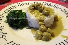Polpettine al curry, ricetta veloce, Mangia senza Pancia.