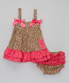 Look at this Wenchoice Pink & Leopard Ruffle Top & Diaper Cover - Infant & Toddler on #zulily today!