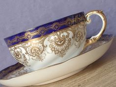 Hey, I found this really awesome Etsy listing at https://www.etsy.com/listing/74243865/rare-antique-aynsley-china-blue-and-gold