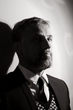 """"""" Christoph Waltz, photograph by Hellin Kay for Black Book — December, 2010 """" Flawless. Devil You Know, Jason Isaacs, Christoph Waltz, Thom Yorke, Favorite Movie Quotes, Hot Guys, Hot Men, Pretty Boys, Comedians"""
