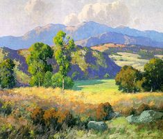 Landscape Oil Paintings | Braun Paintings 1877 - 1941 American Impressionist Painter
