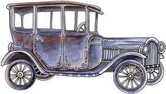 clipart imagem decoupage Arthur's Model A
