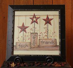 Faith, Family, Friends Star Print