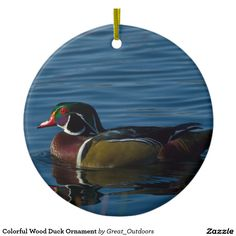 Shop Colorful Wood Duck Ornament created by Great_Outdoors. Duck Ornaments, Hanging Ornaments, Christmas Themes, I Shop, My Design, Goodies, Colorful, Wood, Cute