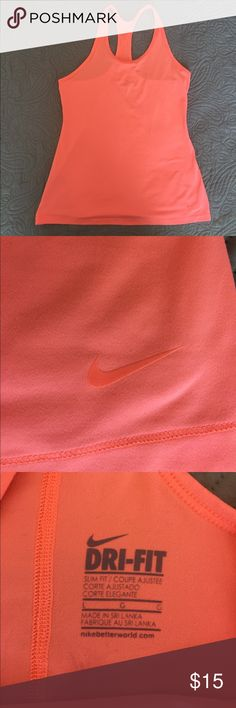 Women's Nike Coral/Orange Tank Sz L This is a listing for a Nike Women's tank Sz L Washed and never worn. Beautiful coral neon orangish color😁 Nike Tops Tank Tops