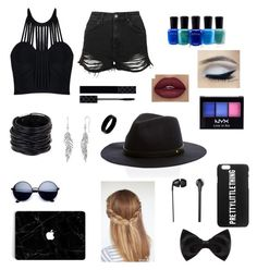 Black by stars72402 on Polyvore featuring polyvore, fashion, style, Posh Girl, Topshop, Saachi, West Coast Jewelry, New Look, The Sharper Image, NYX, Gucci, Zoya and clothing