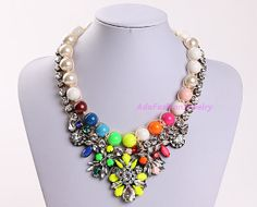 Luxury Necklace Statement Necklace Fashion by AdaFashionJewelry, $73.00