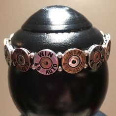 Western 45 gauge Shotgun Shell Bracelet Brand New Western Style 45 Gauge Shotgun Shell Stretchable Bracelet  Stretches to Fit Most  Antiqued Copper, Gold & Silver colors Made from Alloy Metal Jewelry Bracelets