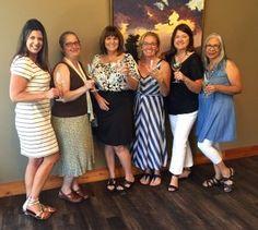 Pictured from left, Christy Hovey, Sarah Tregay, Mary McFarland, Amy Davis, Elaine Ambrose, and Ophelia Ramirez