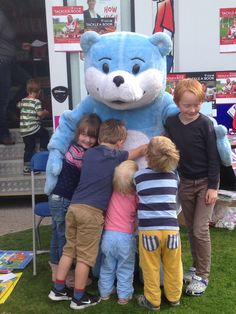 Bookstart Bear at Give it a Try event in Cheltenham for Rugby World Cup 2015