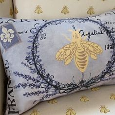 Pierette's My French Family Pillow Cover, II
