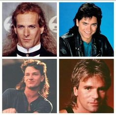 80's  - famous mullets all around
