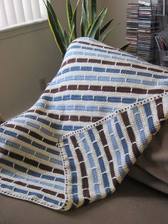 Ravelry: Crochet Stripe Blanket pattern by Bernat Design Studio