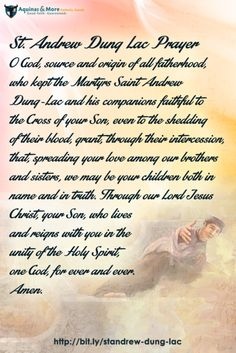 St. Andrew Dung Lac Prayer