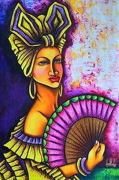 NEW Ana Gladys 6 Original CUBAN Fine Art Signed Painting Cuba Havana
