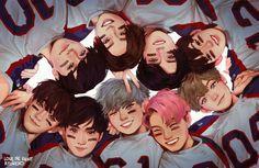 Image about kpop in EXO ! by Vicky on We Heart It K Pop, Exo Cartoon, Exo Anime, Exo Fan Art, Kpop Exo, Kpop Fanart, K Idols, Baekhyun, Cute Wallpapers