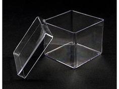 Caixinhas de Acrílico 4x4x4 com tampa, para confecção de Lembranças de Nascimento, Batizado, chá de bebe, crisma e até casamento