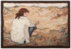 GuildTrip.com artisan Rachelle LeBlanc. Textile Artist. Hooked Wool. Canada. rachelleleblanc.com