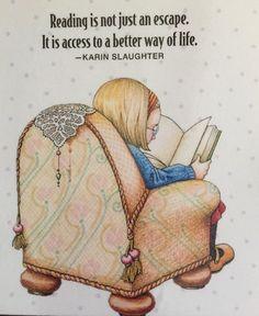 Reading Is Not Just An Escape-Handmade Fridge Magnet
