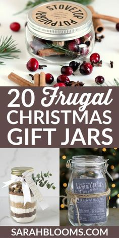 20 Creative + Affordable DIY Holiday Gift Jars – Sarah Blooms – Finance tips, saving money, budgeting planner Diy Holiday Gifts, Christmas Gifts For Friends, Personalized Christmas Gifts, Christmas Gift Wrapping, Holiday Fun, Christmas Presents, Frugal Christmas, Christmas Hacks, Christmas Crafts