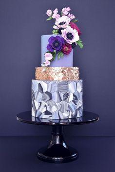 Indian Weddings Inspirations. Purple Wedding Cake. Repinned by #indianweddingsmag indianweddingsmag.com #weddingcake