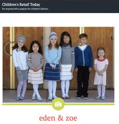 Lovely article on our FW14 collection from Children's Retail Today!