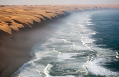 The meeting point between the Namib Desert and the Atlantic Ocean.... Roberto Moiola