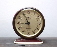 Vintage Japy Alouette alarm clock by SAMANTHATENN on Etsy
