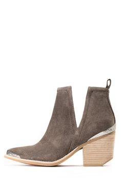 Jeffrey Campbell Shoes CROMWELL Booties in Taupe Distressed