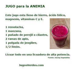 Jugo para la anemia