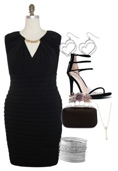 """""""Business dinner"""" by kateri-flyisha-glover on Polyvore featuring Maggy London, Avenue, Anne Michelle, Alexander McQueen, EF Collection and plus size dresses"""