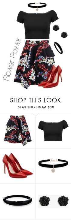 """""""Flower power"""" by borntoread ❤ liked on Polyvore featuring MSGM, Alice + Olivia, Alexander McQueen, Betsey Johnson, Alexis Bittar and Ann Taylor"""