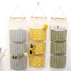 Wall Hanging Storage Bags Organizer Clothing Jewelry Closet Organizer Bags Pocket Hanging Holder Wall Storage Bags Racks 3 Color - The World of Makeup Wall Hanging Storage, Door Storage, Storage Baskets, Storage Boxes, Linen Storage, Storage Organizers, Hanging Baskets, Hanging Closet, Storage Cart
