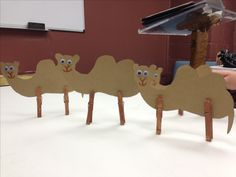 Camel craft to teach  a wife for Isaac lesson.  Paper is Brown paper stock and I just had the kids paint the clothes pins.   They loved this!