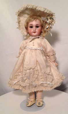 Antique Bisque Jumeau Doll Marked Dep 4. What a Beauty! Take a Look!