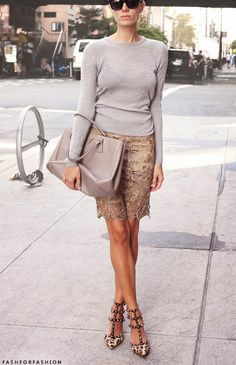 Elegant and sophisticated neutrals. Chic outfit idea with more than 800 repins!