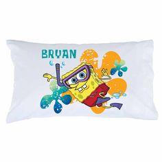 SpongeBob SquarePants Snorkel Pillowcase - Bedding & Blankets - Decor | Tv's Toy Box
