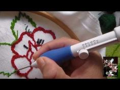 punch needle embroidery tutorial with ultra punch needle - YouTube